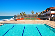 Oceanfront Pool and Tennis Court at San Antonio del Mar