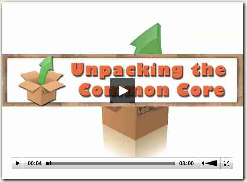 Unpacking the Common Core