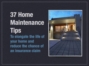 37 Home Maintenance Tips