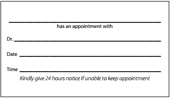 Appointment Reminder Sample