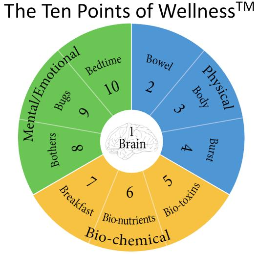 "The Ten Points Of Wellness. If you can't see this image, click ""Display Images Below"" in your browser above this email."