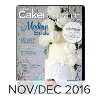 American Cake Decorating magazine Nov/Dec 2016