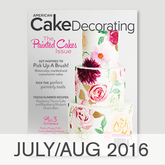 American Cake Decorating magazine July/August 2016