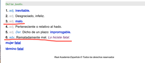 Fatal Spanish - Synergy Spanish Systems