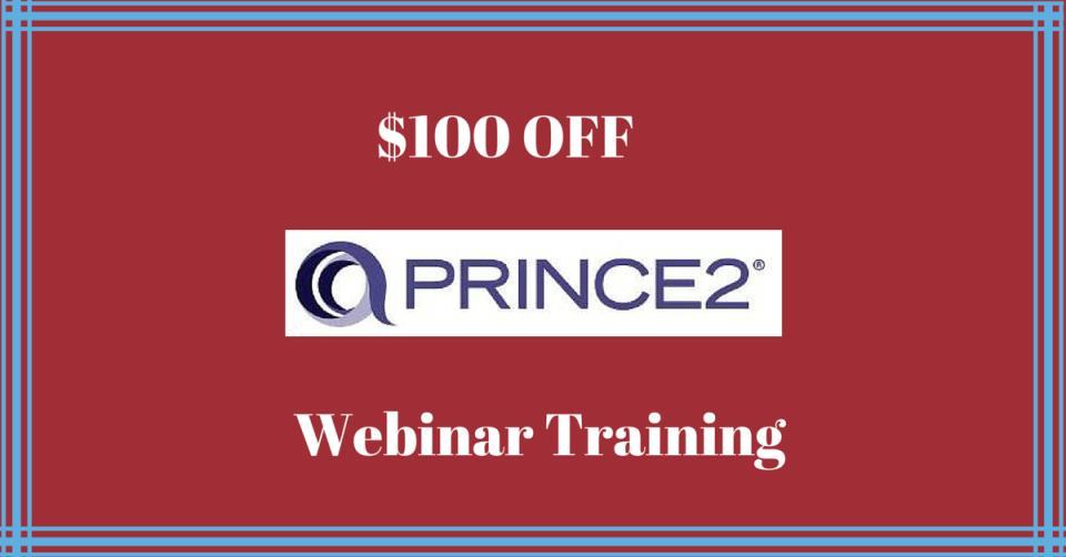 $100 off Prince2 Webinar