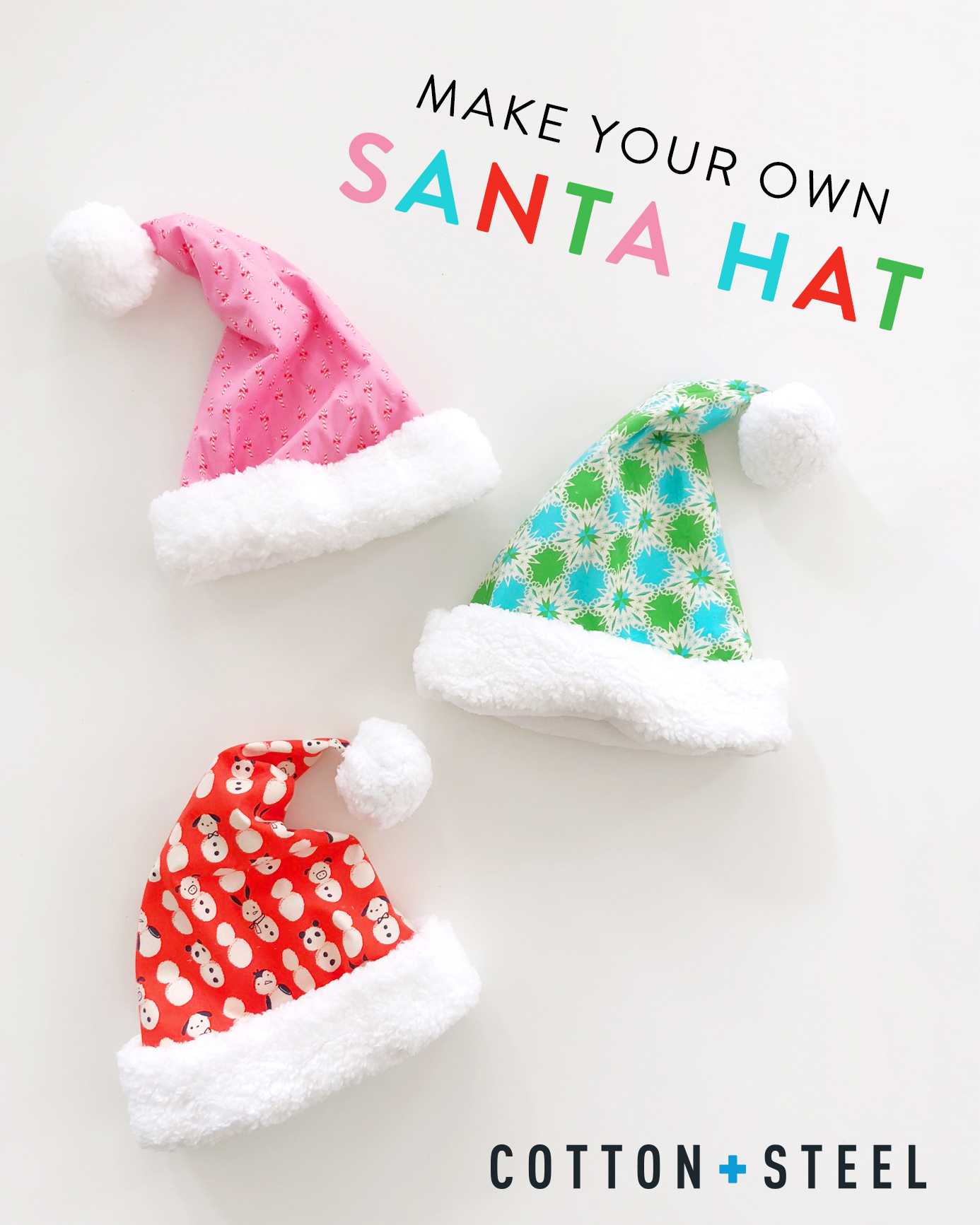 Tutorial: Make Santa Hats by Cotton+Steel - TheQuiltShow.com