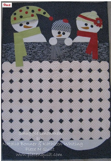 Snuggle Snowmen Tutorial From Piece N Quilt Thequiltshow