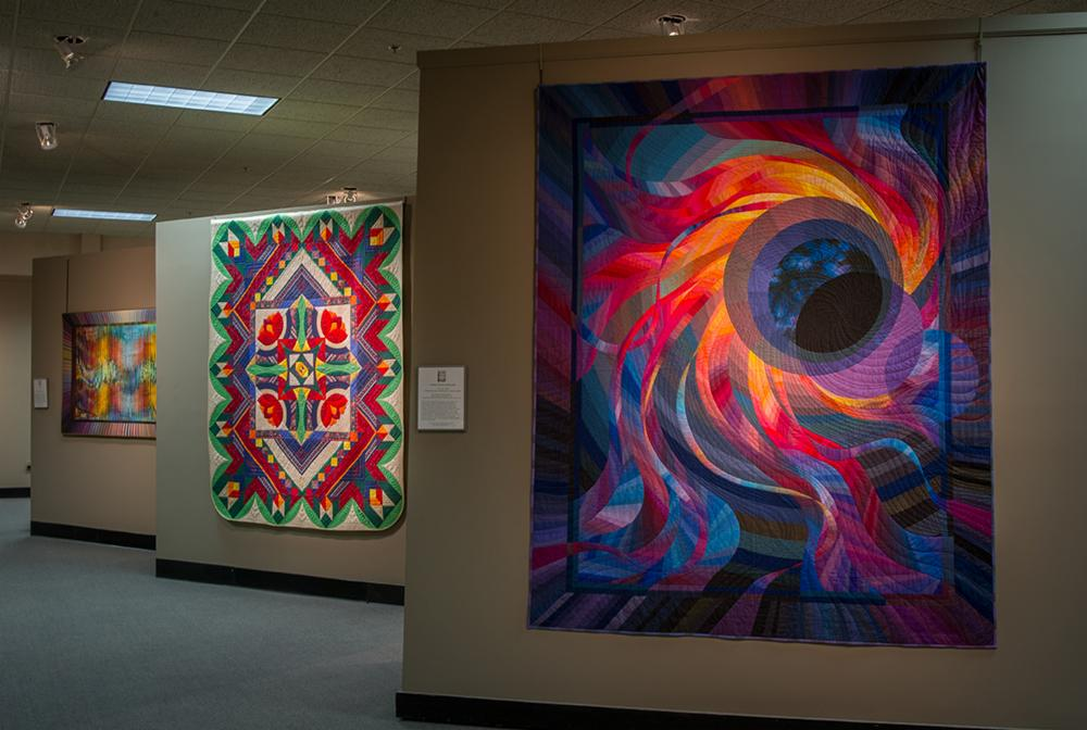 The floor of the National Quilt Museum
