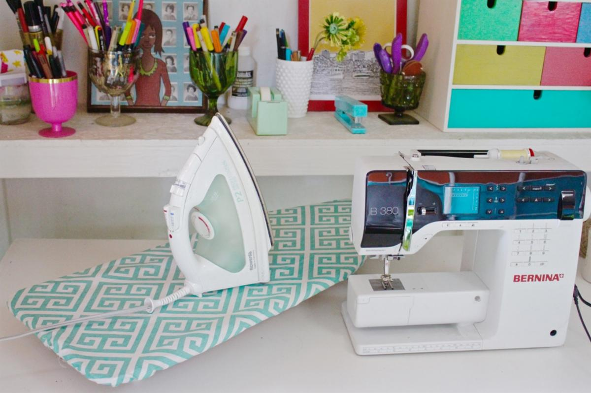 3ad4f2934da ... at WeAllSew.com has a great tutorial for creating a mini ironing board  cover. Just think