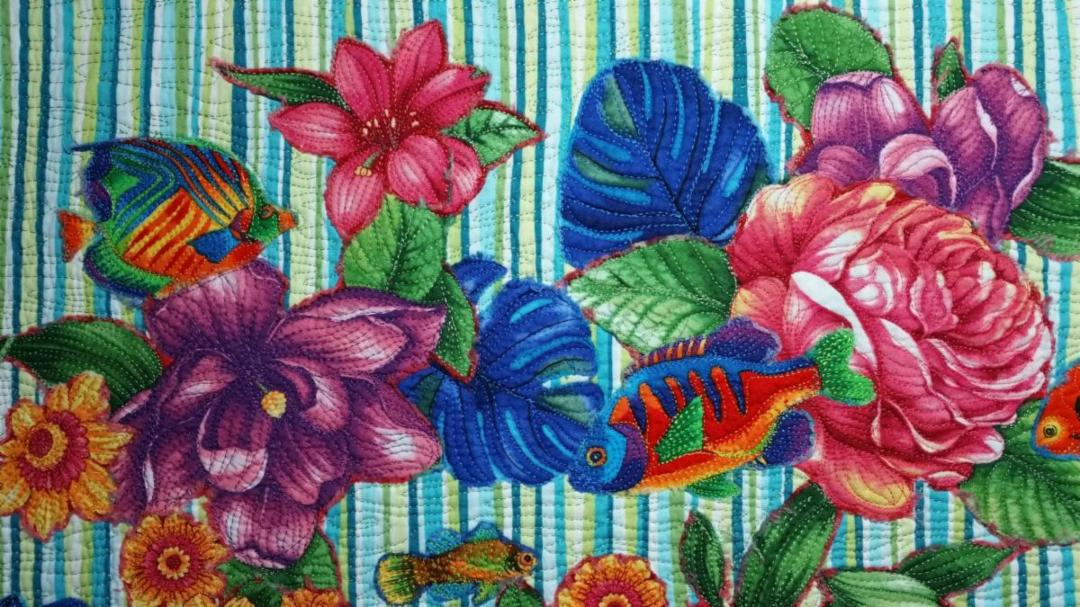 tutorial make a spring collage quilt thequiltshow com