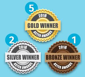 corecubed wins 8 Aster Awards