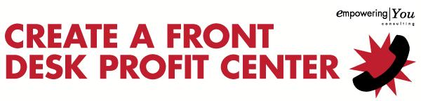 Create a Front Desk Profit Center
