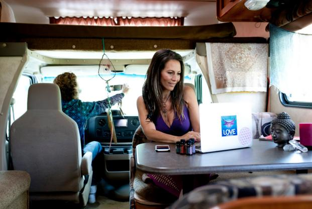 working in the rv