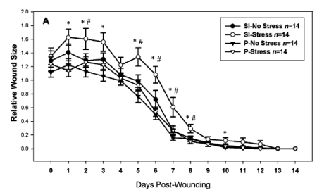 Days Post-Wounding Relative Wound Size