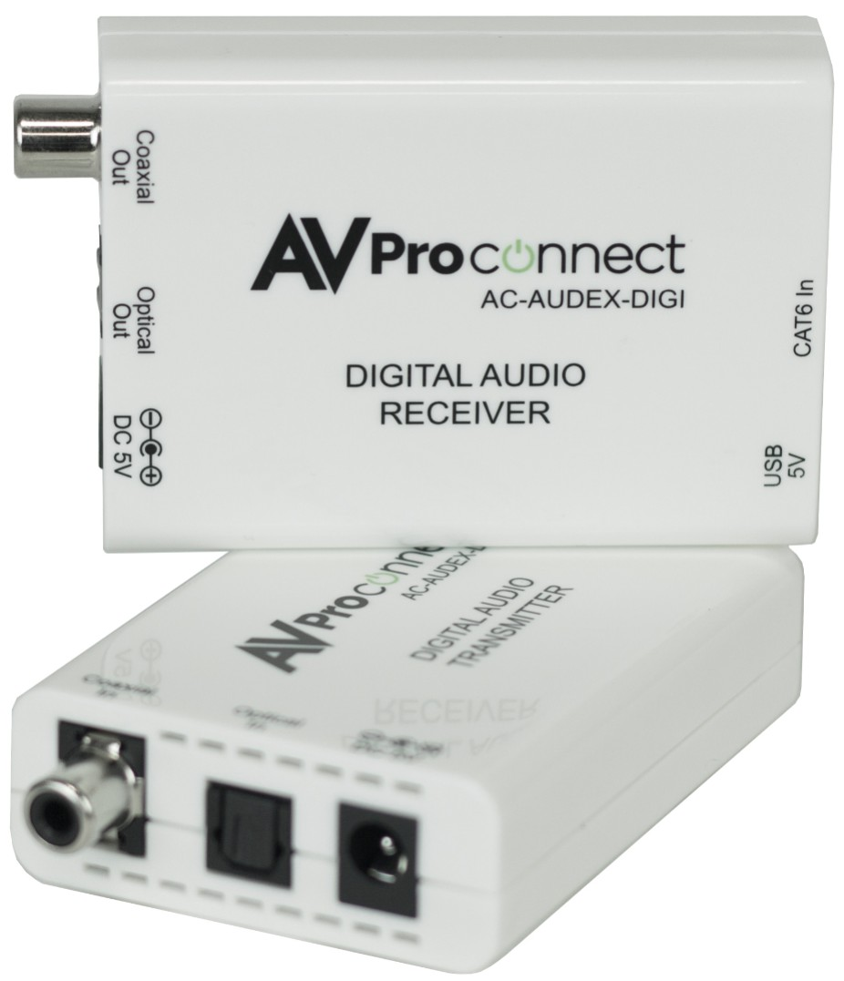 AC-AUDEX-DIGI: Universal 150M Digital Audio Extender Over CAT w/ Dolby Digital & DTS