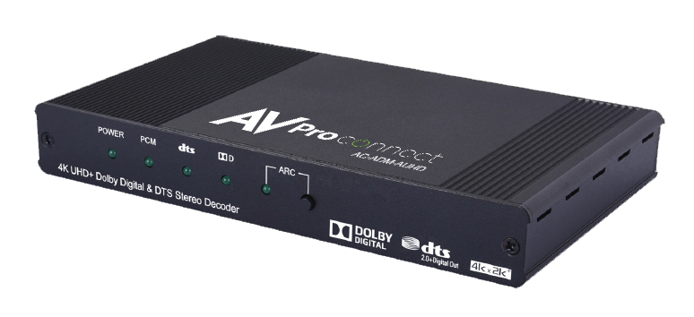 AC-ADM-AUHD: 18Gbps Dolby Digital/DTS Stereo Audio Decoder and Downmixer