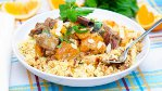 Lemon, garlic 																				couscous