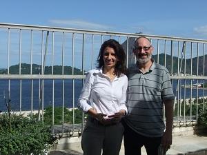 USGCC Chair Peter Zahn with Greenpeace International                                                                       Chair Ana Toni in Rio de Janeiro