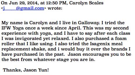 Yoga Testimonial Carolyn
