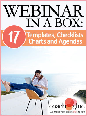 Webinar in a Box: 17 Templates, Checklists, Charts and Agendas