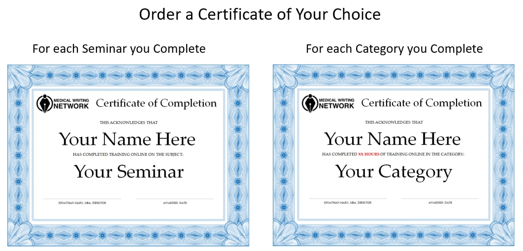 Order a Certificate of Completion of Your Choice