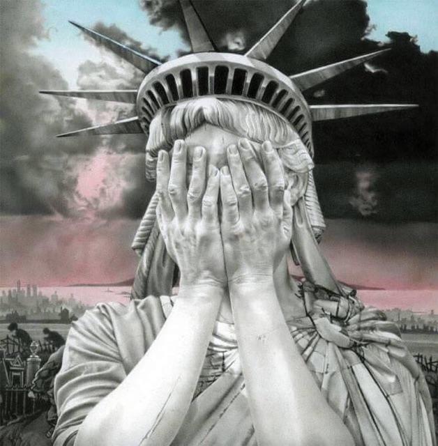 Artwork: OH, AMERICA by Gee Vaucher