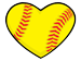 Softball heart bullet
