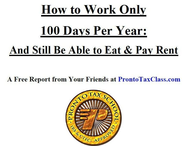 Seasonal Tax Preparer Free Report
