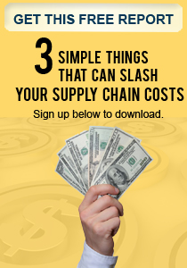 Three Simple Things that can Slash YOUR Supply Chain Costs