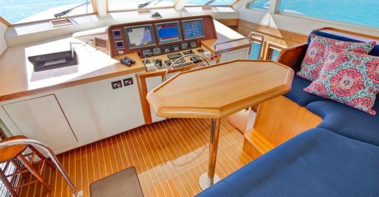 captain bridge on a yacht
