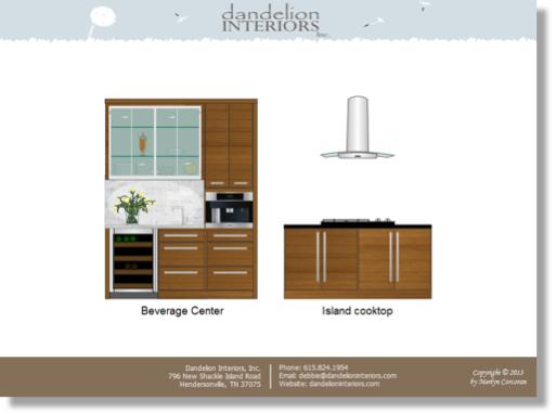 Image of modern kitchen rendering