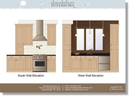 Image of traditional kitchen rendering