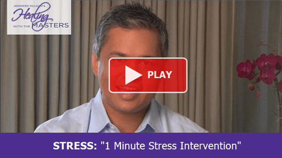 FREE Training on Overcoming Stress and Overwhelm - Healing with the Masters 2012 - 1 min stress intervention