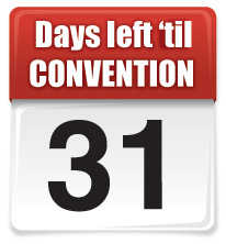 31 days left until Convention