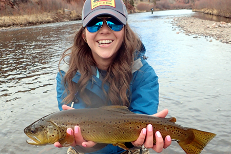 elisa with brown trout