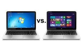 Windows 7 vs Windows 8 comparison image