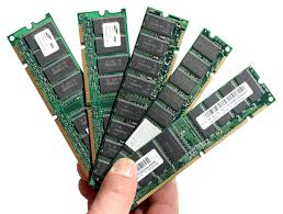 Computer memory chips image