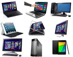 Image of various computers and laptops