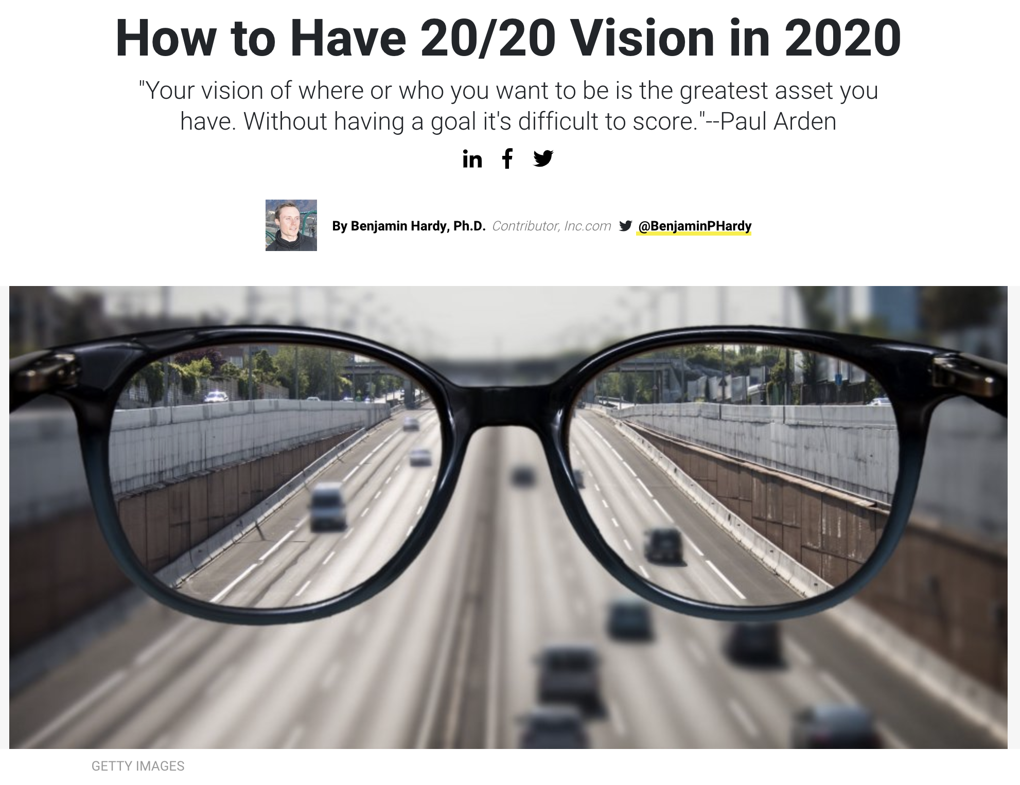 2020 Vision Article