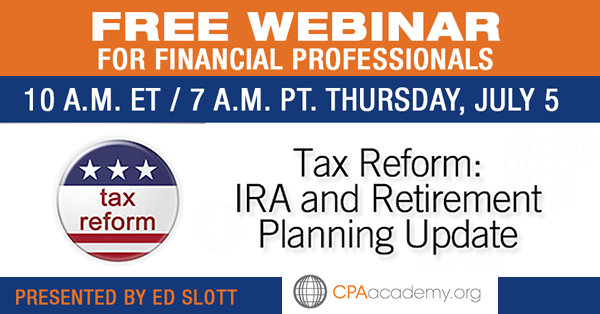 Tax Webinar with Ed Slott
