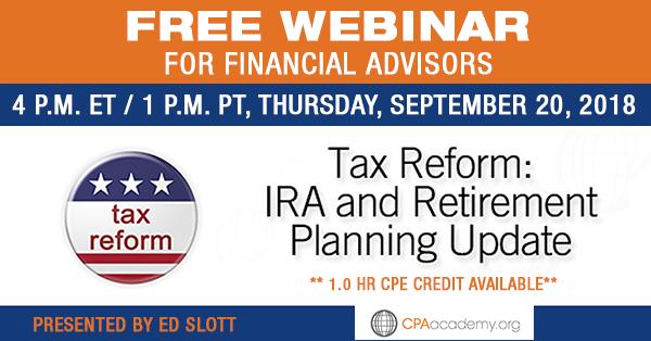 Tax Webinar with Ed Slott