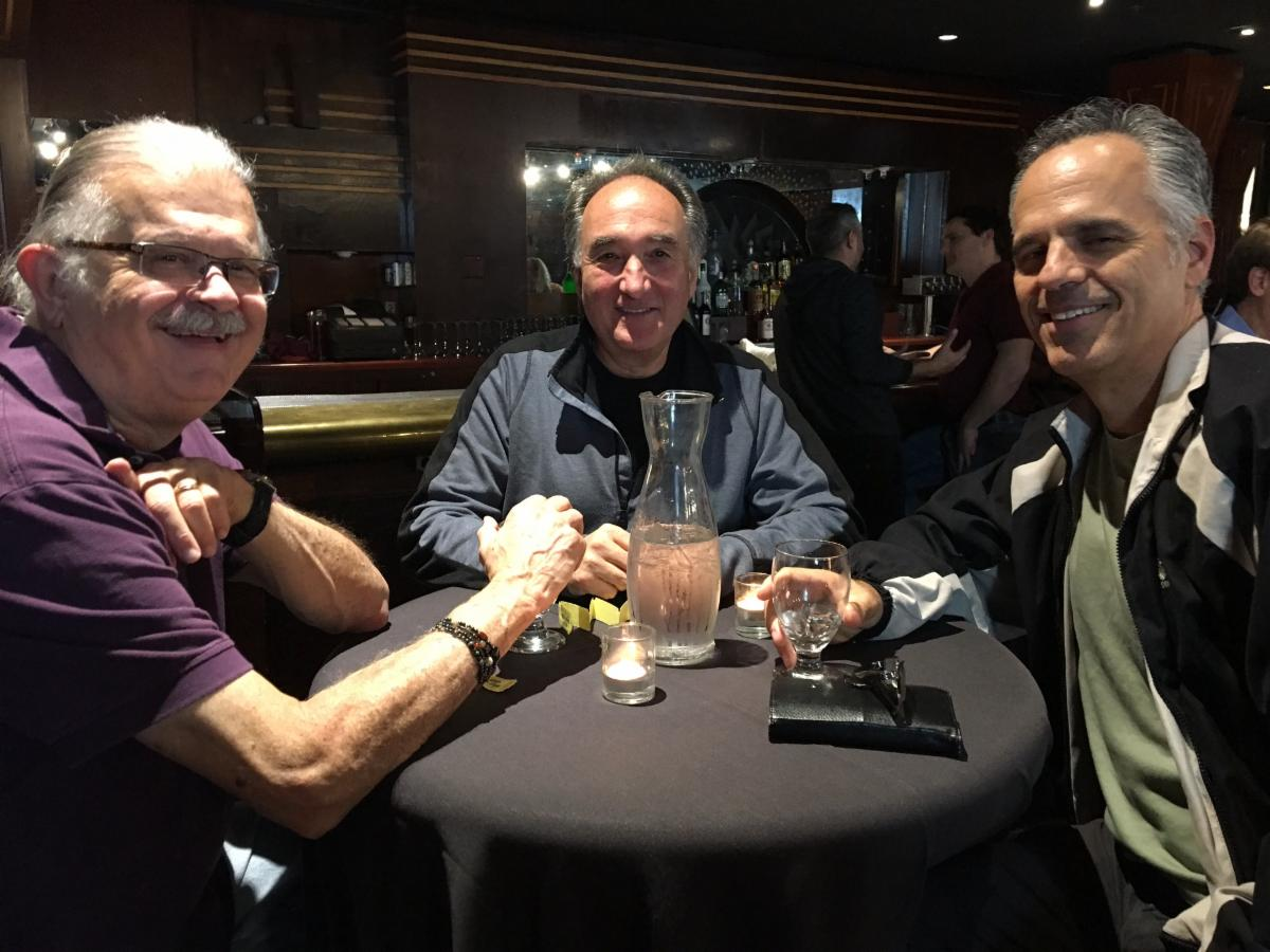Water's a good choice too! :) (from left) Dr. Andrew Linial, Dr. Michael Defino, and Dr. Douglas DeSalvo