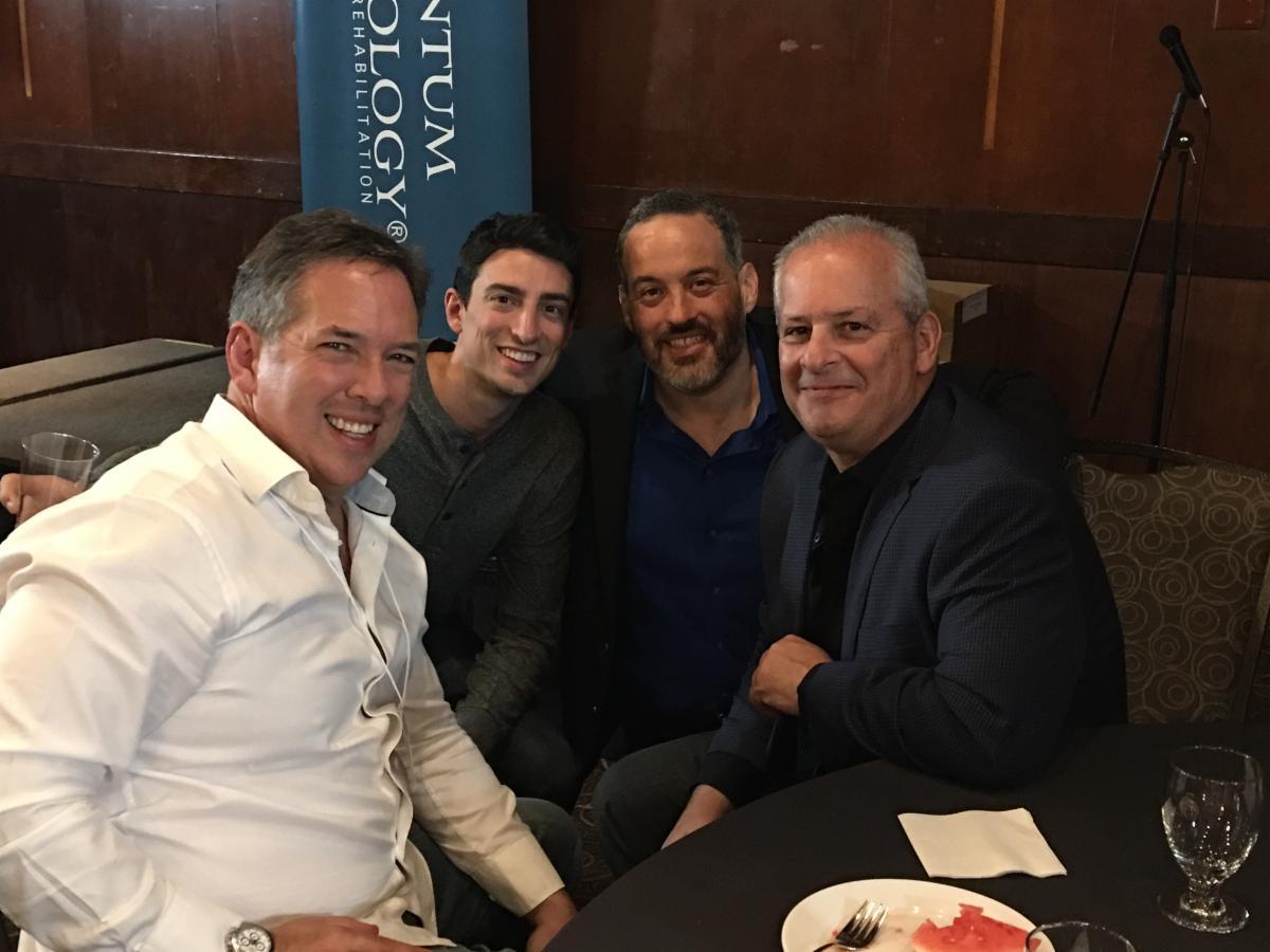 Dr. Gonzalez and friends Dr. Howard Cohn, Dr. Charlie Fagenholz, and Dr. Bob Hoffman