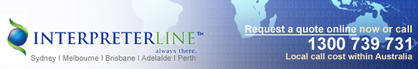 InterpreterLine - Australia's only telephone and video interpreting specialist