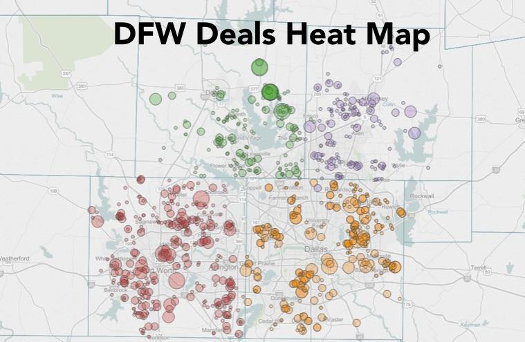 DFW Deals Heat Map