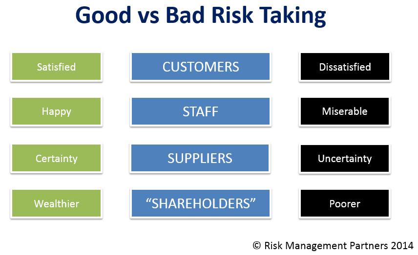 Bad vs Good Risk Training