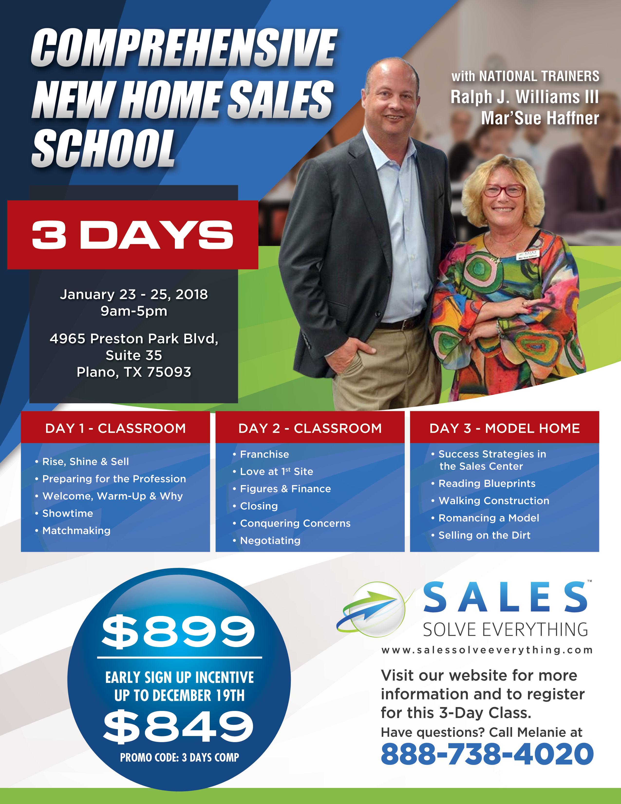 Comprehensive New Home Sales School