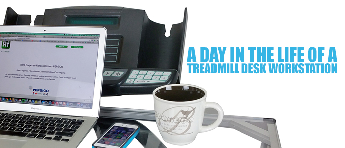 A day in the life of a Treadmill Desk Workstation in a busy corporate office