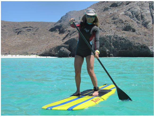 Dr Susanne Paddleboarding