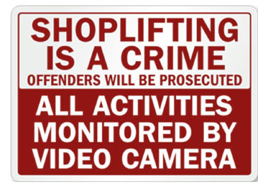 Com-Shoplifting is a crime Sign